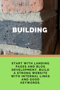 building landing pages and blog development